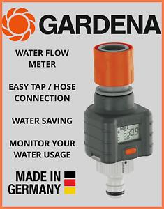 Gardena Digital Electronic Water Smart Flow Meter For Garden or Caravan Hose