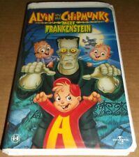 Alvin and the Chipmunks Meet Frankenstein clamshell (1999) VHS cartoon animation