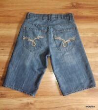~EXCELLENT!~ Men's Avirex Hip Hop Baggy / Loose Fit Denim Shorts Size 30