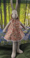 Beautiful Luna Lapin Scandi apricot Floral handmade, 100% cotton dress.