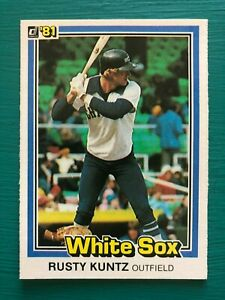 1981 Donruss RUSTY KUNTZ Baseball's Dirtiest Funniest Name Real Trading Card 282