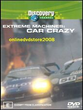 EXTREME MACHINES - CAR CRAZY - Fast Cars - Drag Racing - DVD NEW SEALED Region 4