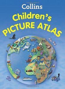 Brandneu Collins Kinder Bild Atlas Hardcover Buch