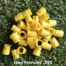10/20/50/100pcs Tip Size .355 Yellow Golf Ferrules For Taper Tip Iron and Wedge