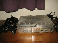 Microsoft Xbox Crystal Limited Edition Console PAL TESTED Inc 21 Games