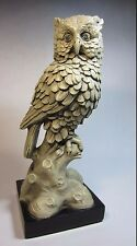 Vintage Marwal Chalk-ware Figurine, Great Horned Owl, By A. Santini
