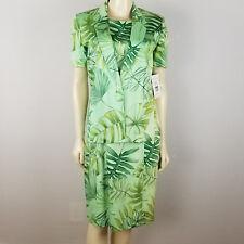 Harve Benard by Benard Holtzman dress suit palm trees and leaves size 8 talla