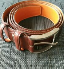 Men's Santoni Light Brown Leather Belt Made In Italy Size 40 Retail $295
