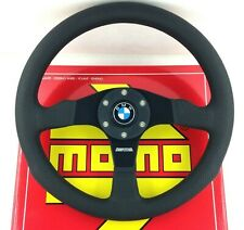 Genuine Momo Competition 350mm steering wheel. BMW horn. 3 5 6 7 series etc.