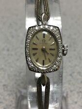 Vintage Omega 28-diamond 14K gold watch 17 jewels Signed 3x Serviced