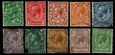 1924 Great Britain #187-98 General Issues - Mixed - Vf+ - Cv$21.60 (Esp#3746)