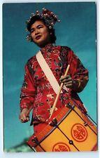 *St Mary Chinese Girls Drum Corps Drummer San Francisco California Postcard B46
