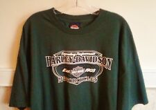 New HARLEY-DAVIDSON Boston Sz 3XL Green T-SHIRT