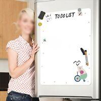 Large Magnetic Fridge Planner Whiteboard Dry Erase Wipe Meal Diet Memo Family