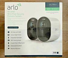 Arlo 4K UHD Wire Free Security Camera System x2 Cameras Advanced Smart Hub.