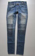 William Rast Jerri Ultra Skinny Low Rise Patchwork Distressed Jean - Size 26