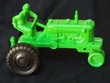 Vintage LOUIS MARX Tractor HAPPI TIME Play Set Playset Green Plastic Farming Toy