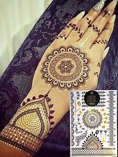 Gold Henna Metallic Flash Bindi Temporary Tattoos by Unique Freak STOCKINGFILLER