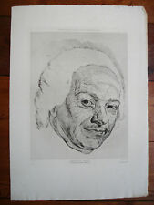 D'APRES LA TOUR -PORTRAIT DE CHARDIN-GRAVURE PARDE GONCOURT- REVUE L'ART 19