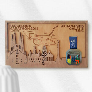 Barcelona Marathon Medal Holder Plaque