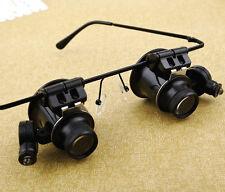 Binocular with LED lamp watches repair tool 20X head magnifier repair tool watch