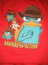 Disney Phineas and Ferb T-Shirt New Red Mamal of Action size 18