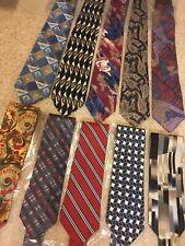 * Lot Of 10 Designer Brands New ListingMen's Designer Neckties 100% Silk New