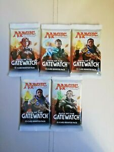 MTG Oath of the Gatewatch Booster Packs x 5 sealed