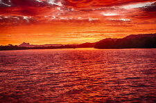 120cm  CANVAS PRINT mt warning NSW tweed river kingscliff sunset photo aussie