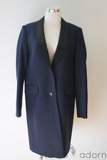NEW J.Crew Collection Tuxedo Topcoat 12 Navy $398 Sold Out 07760 Women's Wool