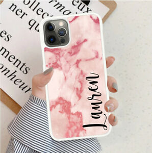 Personalised Marble Phone Case Cover For Apple Samsung Initial Name - Ref Y74