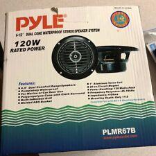 2 New Pyle 6 1/2'' Dual Cone  Marine Boat Yacht Waterproof Speaker System