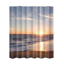 Rideau de douche en tissu avec des crochets Ring Bathroom Nature Scenery # 3
