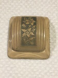 Antique Celluloid Clam Ring Box Rockford, IL