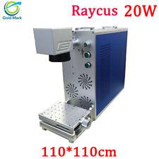 20W Fiber Laser Marking Machine 110*110mm Metal Engraving MAX Raycus With CE FDA
