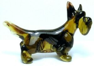 "HAND MADE BLOWN ""MURANO"" GLASS COLLECTABLE  SCOTTISH TERRIER DOG  FIGURINE"