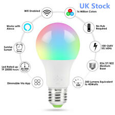 UK Smart Bulb Wireless WiFi Remote Control Light for Alexa Google Home IFTTT N