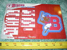 NEW! BUFFALO BISONS 2015 Magnetic and Pocket Schedule, Magnet, Toronto Blue Jays
