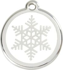 Snow Flake Enamel/Solid Stainless Steel Engraved ID Dog/Cat Tag