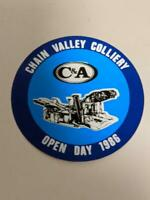 Retro Mining Sticker - C&A Chain Valley Colliery Open Day 1986
