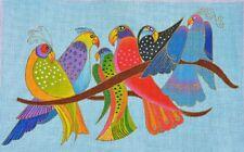 NEEDLEPOINT Handpainted Laurel Burch SONGBIRDS 16x10