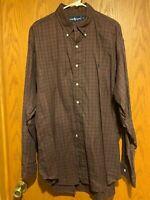 Ralph Lauren Green/Red/Yellow/Blue Plaid Cotton Shirt -XL– EUC