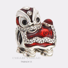 Authentic Pandora Silver Red Enamel Chinese Lion Dance Bead 792043CZ