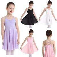 Girls Gymnastics Leotard Ballet Dress Kids Tutu Skirt Party Dancewear Costume