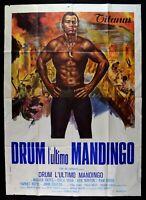 Werbeplakat Drum DIE LETZTE Mandingopam Grier Oates Ken Norton 1971 M51