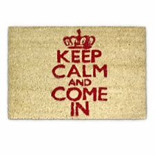 "Relaxdays Paillasson ""keep Calm and Come In"" en Fibre de Coco 40 x 60 cm Avec..."