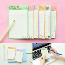 Weekly/Daily Planner Sticker Sticky Notes Memo Pad Schedule Check List  PL