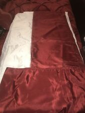 "Scarlet Red Burgundy California King Bed Skirt by Madison Park New 15"" Drop"