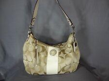 Coach F19281 fabric beige gold handbag