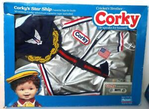Playmates CORKY STAR SHIP OUTFIT & Cassette Tape Set 1987 NRFB